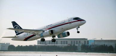 гражданская авиация, пассажирский лайнер, sukhoi superjet 100, ssj100