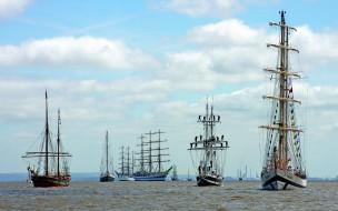 парус, море, корабль, океан, судно