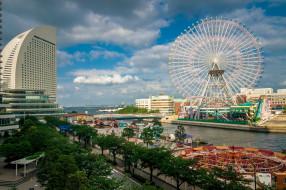 yokohama, города, йокогама , Япония, простор
