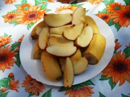 бананы, еда, фрукты, яблоки