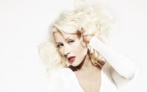 Кристина Агилера, певица, блондинка, лицо, серьги