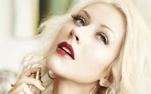 блондинка, лицо, духи, Кристина Агилера, певица