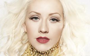 Кристина Агилера, певица, блондинка, лицо