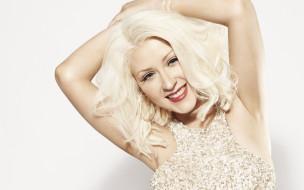 певица, лицо, блондинка, серьги, улыбка, Кристина Агилера