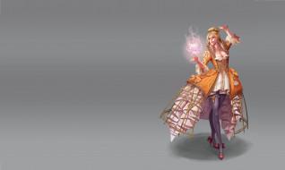 фэнтези, магия, fantasy, wonmi, choi, арт, девушка, огонь