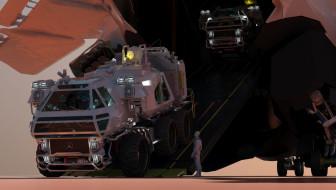 выгрузка, автомобиль, Isolate 2399 Rover