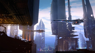 фэнтези, иные миры,  иные времена, сооружения, landing, scene, летающие, аппараты, raphael, lacoste