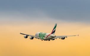 широкофюзеляжный, a380, гражданская авиация, авиакомпания эмирейтс, пассажирский самолет, оаэ, двухпалубный