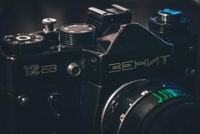 бренды, зенит, черный, фотоаппарат