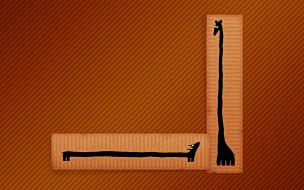 линии, жираф, такса, минимализм, рисунок
