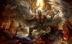 фэнтези, ангелы, derrick, song, арт, битва, comicon, challenge, 2016, -, undead, angel, ангел