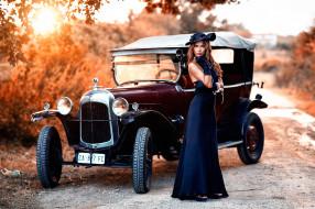 автомобили, -авто с девушками, ретро, машины, авто, девушки