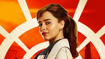 постер, 2018, эмилия кларк, хан соло звездные войны истории, qira