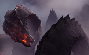 Dragon, дракон, арт, фэнтези