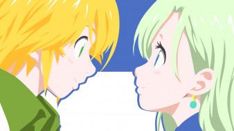 аниме, nanatsu no taizai, взгляд, девушка, фон