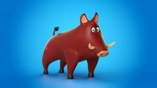 Pig, Cinema 4D, Toy, Animal