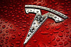 tesla, бренды, авто-мото,  -  unknown, компания, красный, motors, wallhaven, логотип