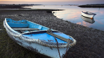 вечер, лодки, река