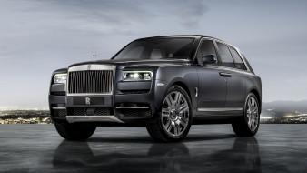 Rolls-Royce, 2019, Cullinan, серый, металлик
