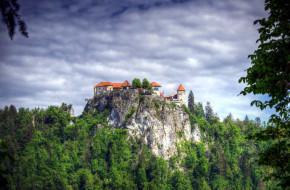 горы, замок