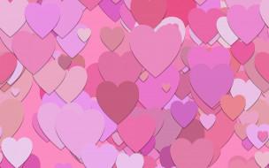 текстура, pink, pattern, background, обои, сердечки, hearts