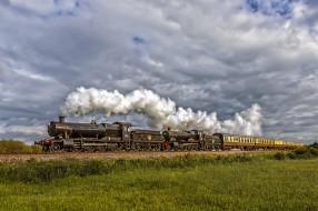 техника, паровозы, локомотив, состав