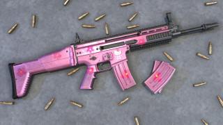 оружие, 3d, scar, pink, assault, rifle