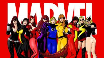 рисованное, комиксы, девушки, фон, взгляд, униформа