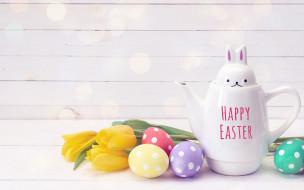 праздничные, пасха, весна, decoration, wood, тюльпаны, easter, tulips, eggs, яйца, крашеные, flowers, spring, happy, цветы