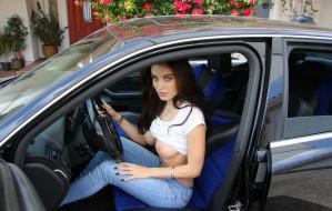 эротика, девушки и автомобили, девушки, авто