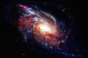 космос, галактики, туманности, тьма, звезды, галактика, свет