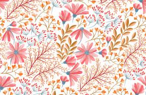 паттерн, Цветы, pattern, seamless, бесшовный, Floral