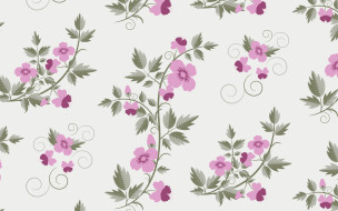 flowers, pattern, retro, vector, текстура, floral, with