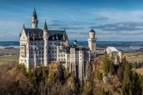 bavaria,  germany, города, замок нойшванштайн , германия, простор