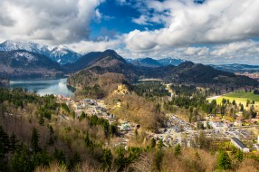 landscape over alps, города, - пейзажи, простор