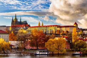 prague castle, города, прага , Чехия, простор