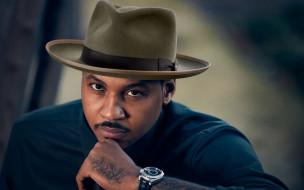 шляпа, сarmelo anthony, знаменитость, кармело энтони, nba, мужчина, нба, звезды баскетбола, наручные часы