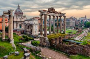 roman forum in rome, города, рим,  ватикан , италия, антик, руины