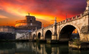 собор, ночь, мост