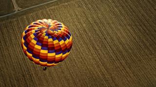 с высоты птичьего полета, воздушные шары, фотография