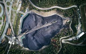разное, сооружения,  постройки, угольный, разрез, добыча, полезных, ископаемых, wallhaven, с, высоты, птичьего, полета, минеральные, ресурсы