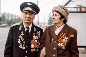 разное, мужчина женщина, ветераны, день, победы, награды, помним