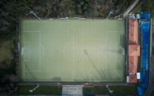 футбольное поле, футбол, спорт, wallhaven, вид сверху