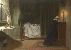 Молитва за Умерших, Дидерик Франциск Джамин, картина, масло