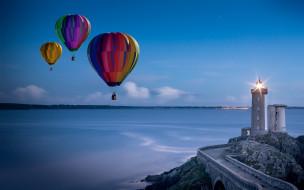 Маяк, воздушные шары