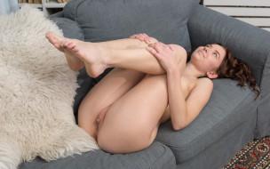 xxx, взгляд, девушка, поза, голая, erna, грудь, фон