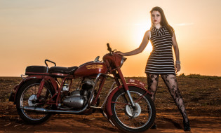 девушки, мотоциклы