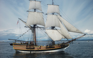 корабль, вода, море, парусник