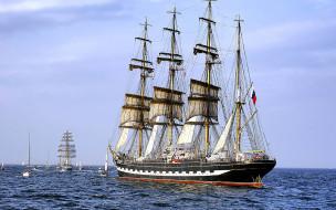корабли, парусники, парусник