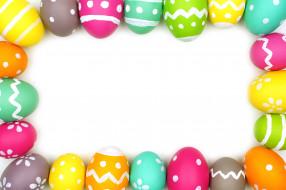 colorful, рамка, decoration, Easter, Пасха, eggs, spring, Happy, frame, яйца крашеные